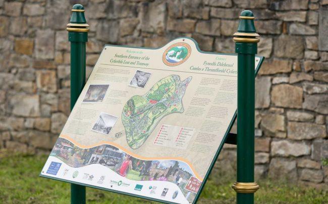 cyfartha park map sign